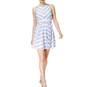NWT Maison Jules fit and flare striped dress